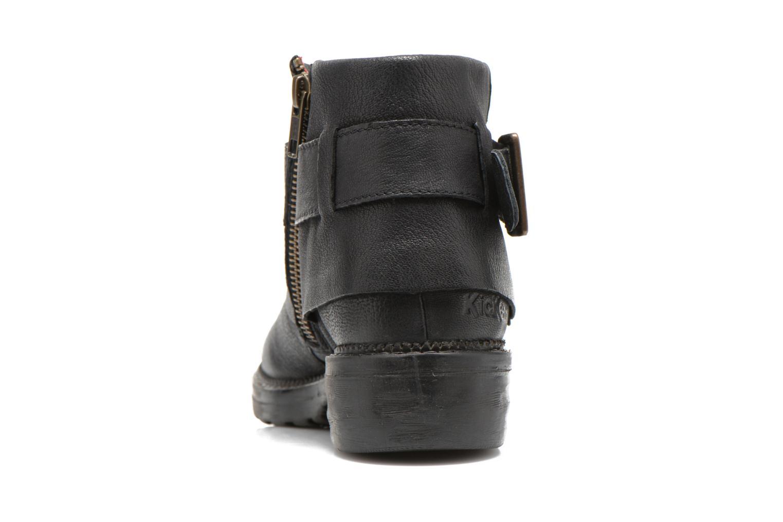 Bottines et boots Kickers Rotary Noir vue droite