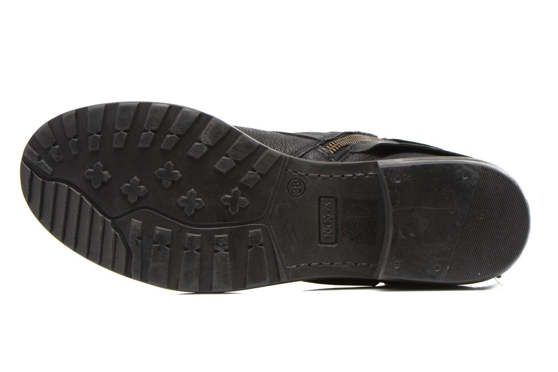 Bottines et boots Kickers Rotary Noir vue haut