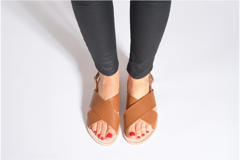 Sandales et nu-pieds Bensimon Sandale Moine Beige vue bas / vue portée sac