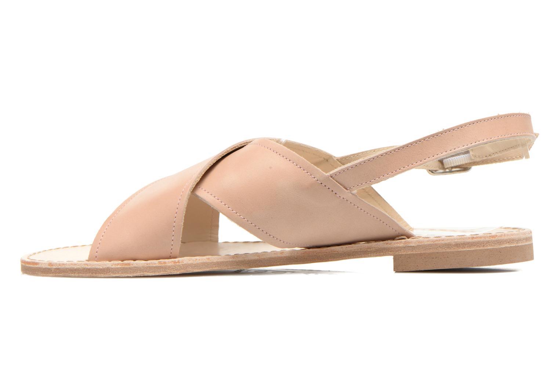 Sandales et nu-pieds Bensimon Sandale Moine Beige vue face