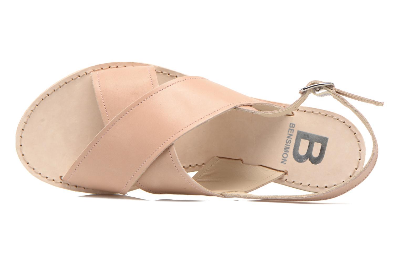 Sandales et nu-pieds Bensimon Sandale Moine Beige vue gauche