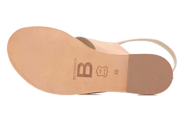 Sandales et nu-pieds Bensimon Sandale Moine Beige vue haut