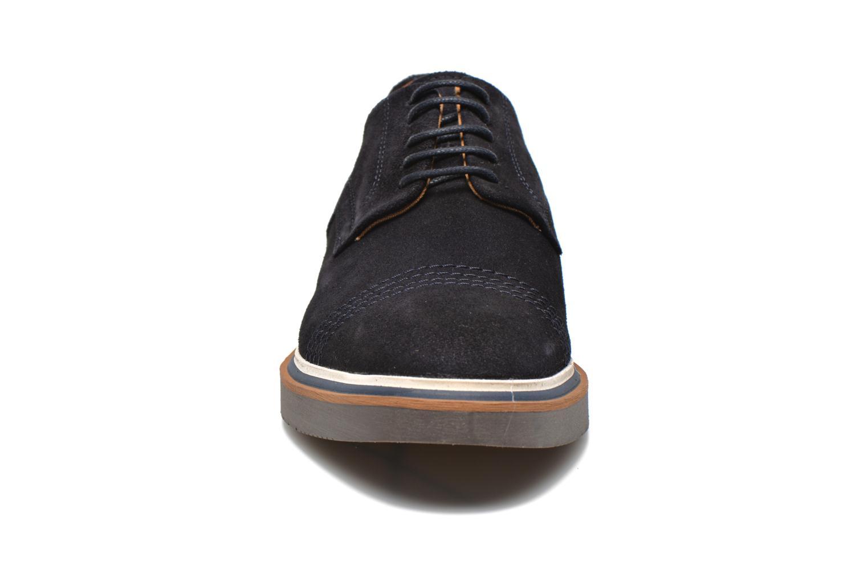 Chaussures à lacets Schmoove Drum Derby Bleu vue portées chaussures