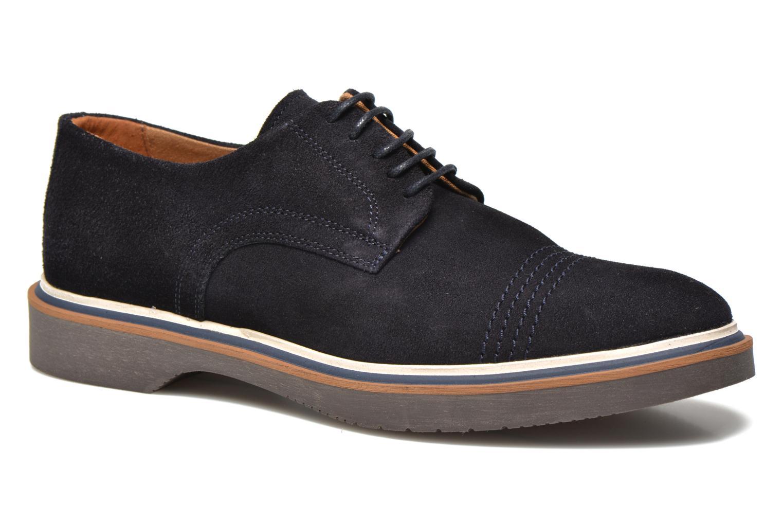 Chaussures à lacets Schmoove Drum Derby Bleu vue détail/paire