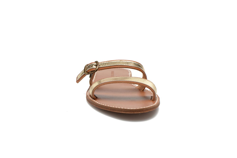 Mules et sabots Sandales de Thaddée Formentera Doré Or et bronze vue portées chaussures
