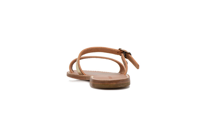 Mules et sabots Sandales de Thaddée Formentera Doré Or et bronze vue droite