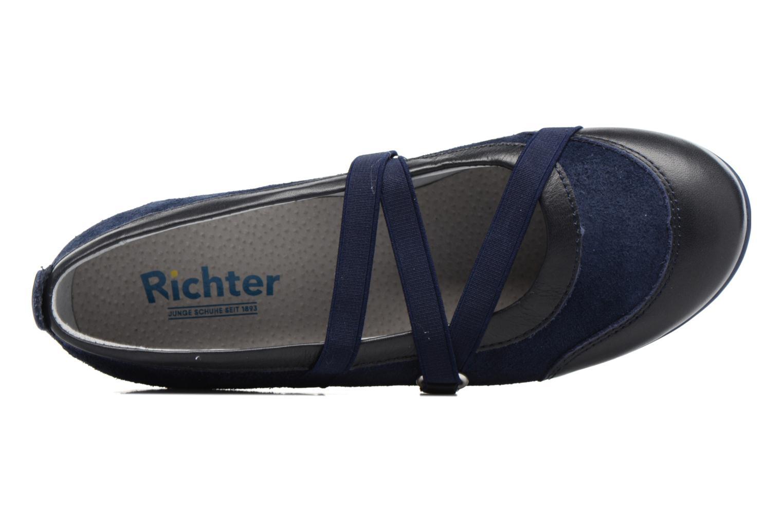 Ballerines Richter Ilsa Bleu vue gauche