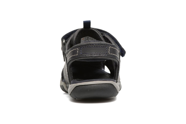 Sandales et nu-pieds Timberland Oak Bluffs Leather Fisher Bleu vue droite