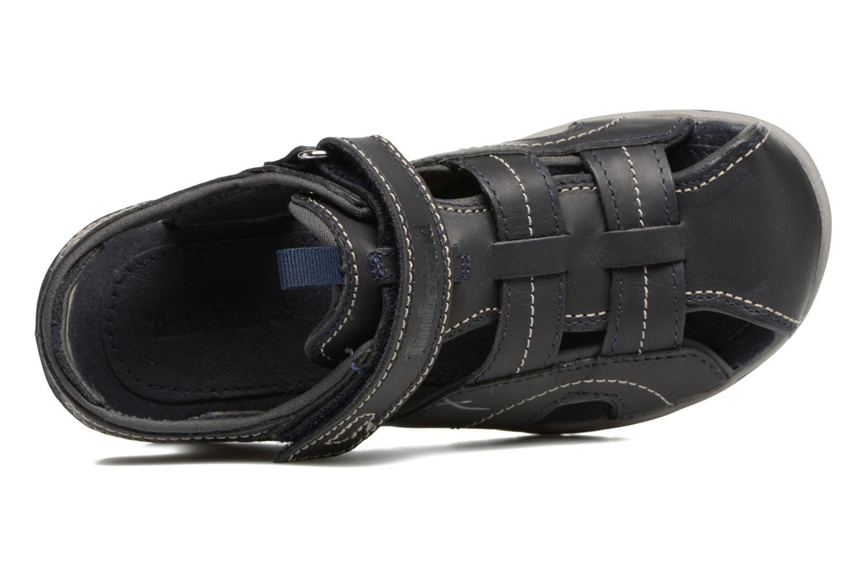 Sandales et nu-pieds Timberland Oak Bluffs Leather Fisher Bleu vue gauche