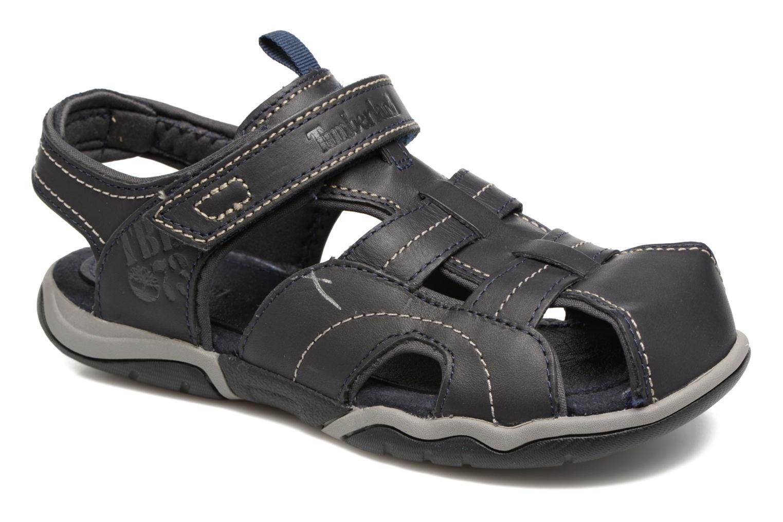 Sandales et nu-pieds Timberland Oak Bluffs Leather Fisher Bleu vue détail/paire