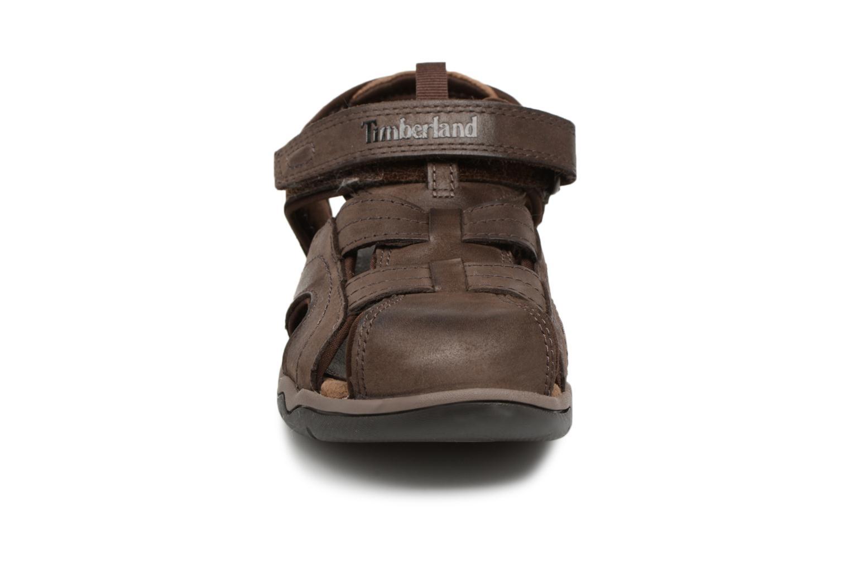 Sandalen Timberland Oak Bluffs Leather Fisher braun schuhe getragen