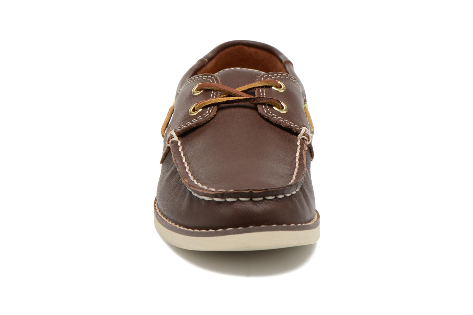 Chaussures à lacets Timberland Seabury Classic 2Eye Boat Marron vue portées chaussures