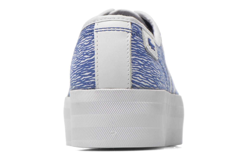 Baskets Lacoste Rene Platform 216 G Bleu vue droite