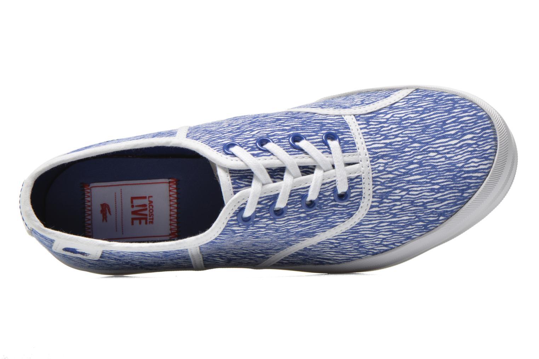Baskets Lacoste Rene Platform 216 G Bleu vue gauche