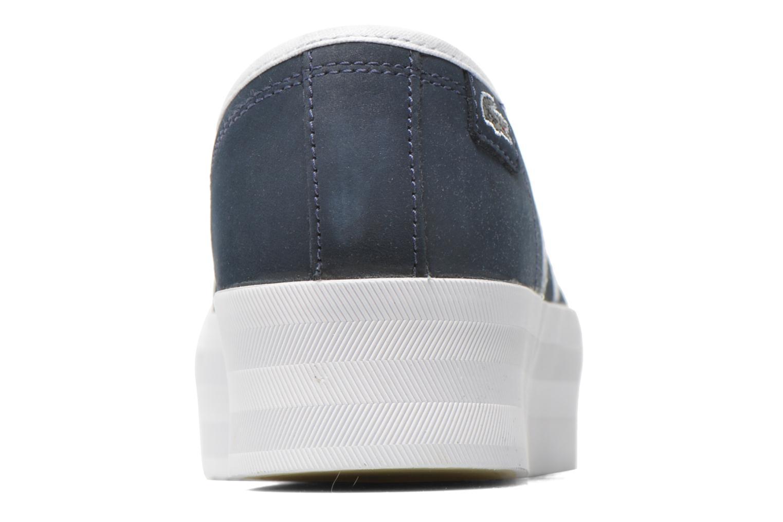 Baskets Lacoste Rene Platform 216 C Bleu vue droite