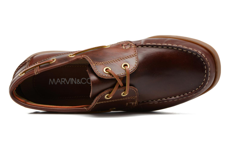 Schnürschuhe Marvin&Co Story braun ansicht von links