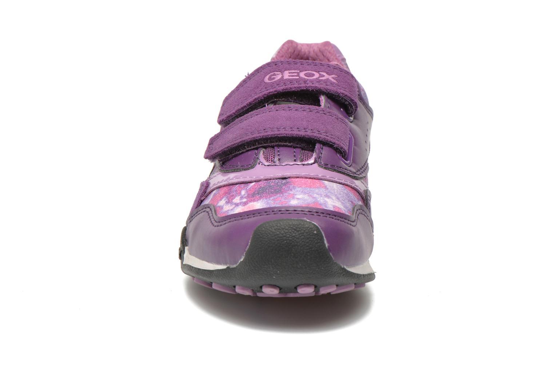 Baskets Geox JR New Jocker Girl J54G2A Violet vue portées chaussures