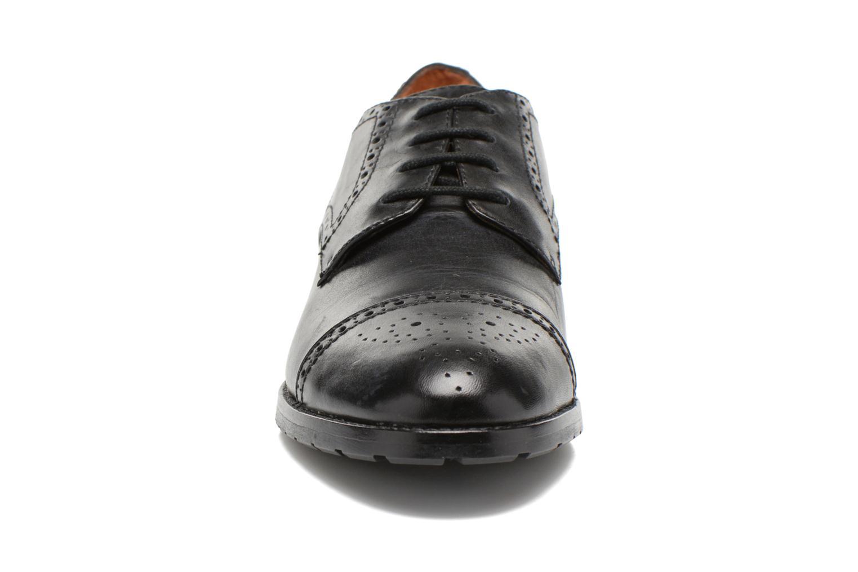 Schnürschuhe Geox D Wallis ABX D34E5C schwarz schuhe getragen