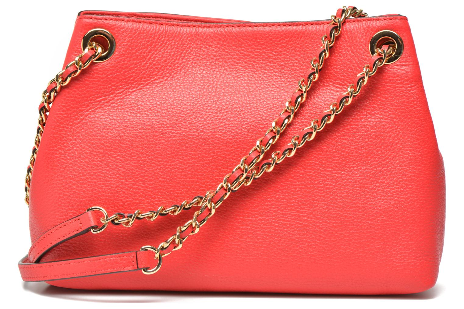 Handbags Michael Michael Kors JET SET CHAIN ITEM MD CHAIN MESSENGER Red front view