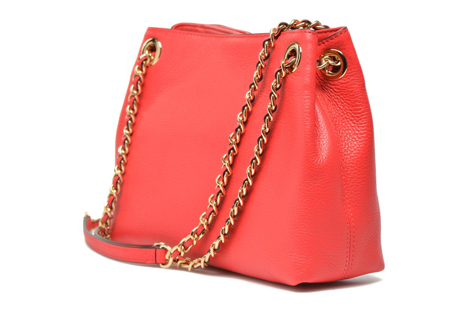 Handbags Michael Michael Kors JET SET CHAIN ITEM MD CHAIN MESSENGER Red view from the right