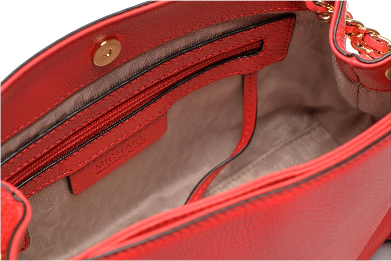 Handtaschen Michael Michael Kors JET SET CHAIN ITEM MD CHAIN MESSENGER rot ansicht von links