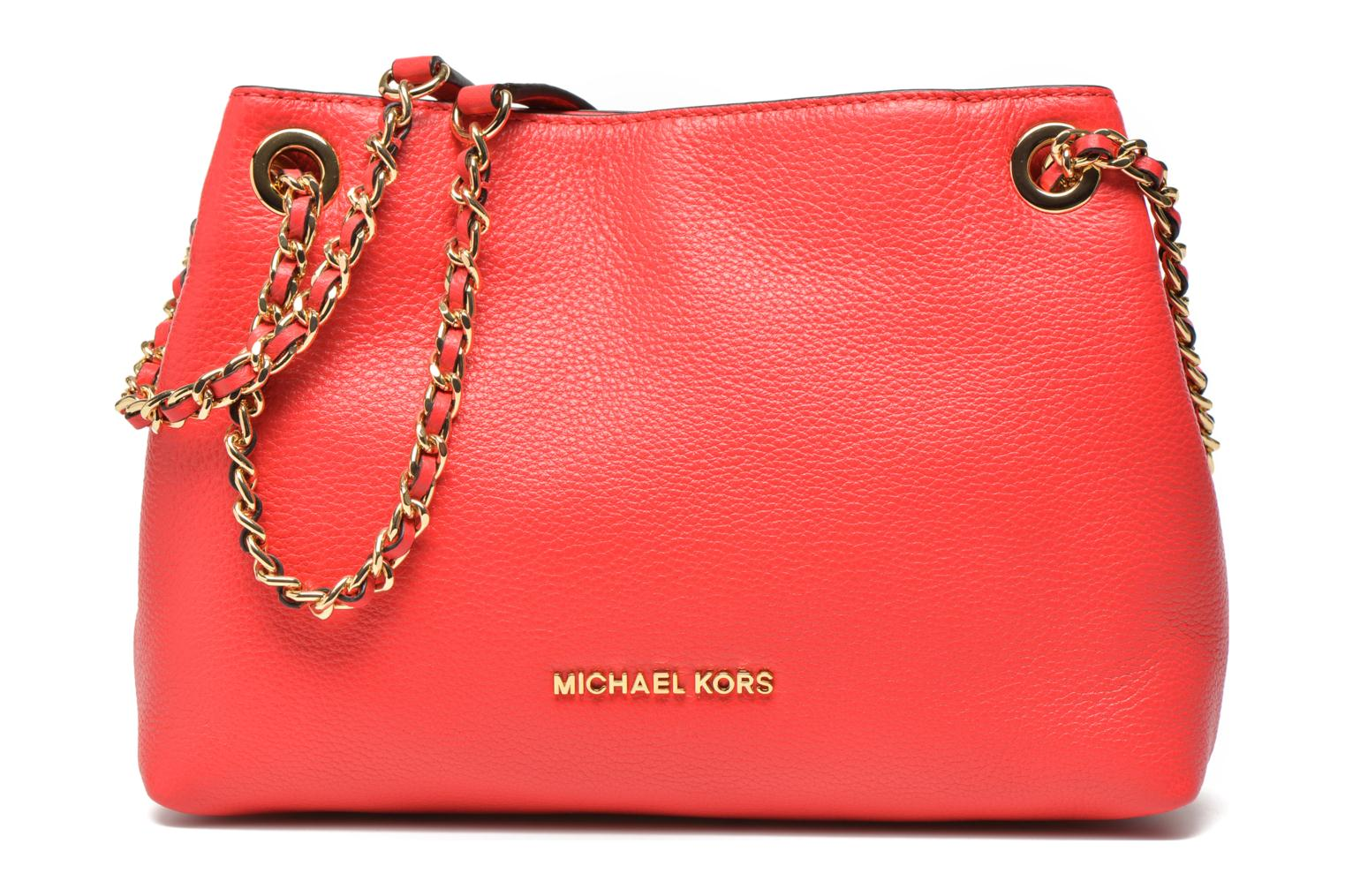 Handbags Michael Michael Kors JET SET CHAIN ITEM MD CHAIN MESSENGER Red detailed view/ Pair view