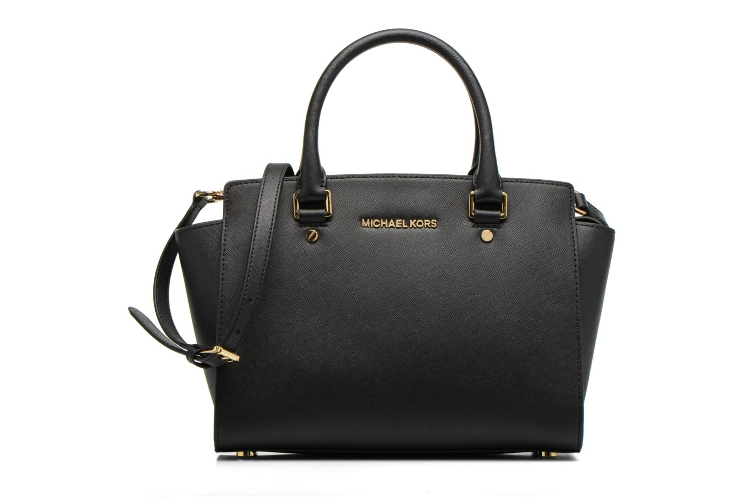SELMA MD TZ SATCHEL SAFFIANO LEATHER BLACK