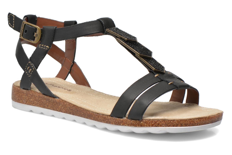 Sandales et nu-pieds Hush Puppies Bretta Jade Noir vue détail/paire