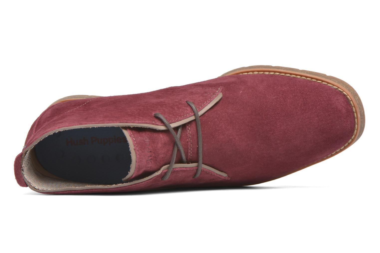 Chaussures à lacets Hush Puppies Roland Jester Bordeaux vue gauche
