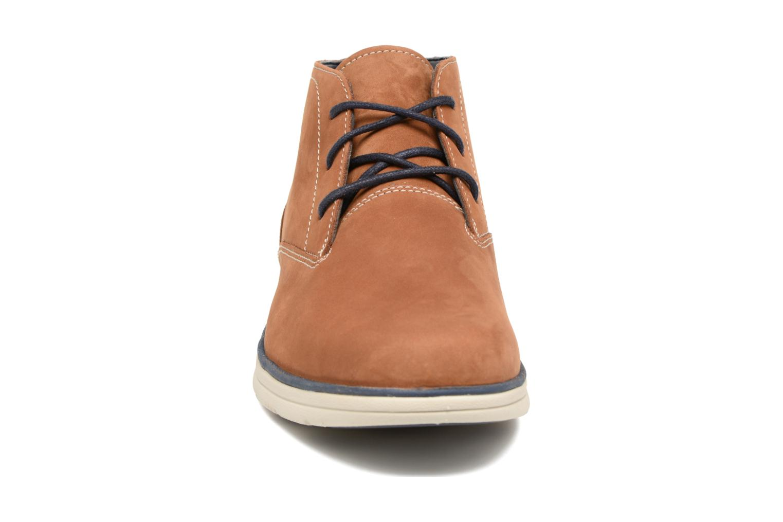 Chaussures à lacets Timberland Bradstreet PT Chukka Beige vue portées chaussures
