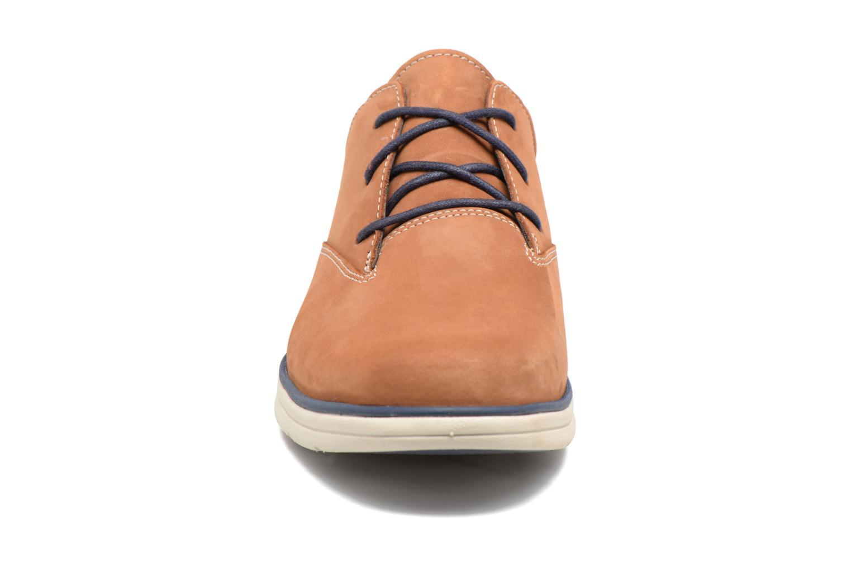 Chaussures à lacets Timberland Bradstreet PT Oxford Beige vue portées chaussures