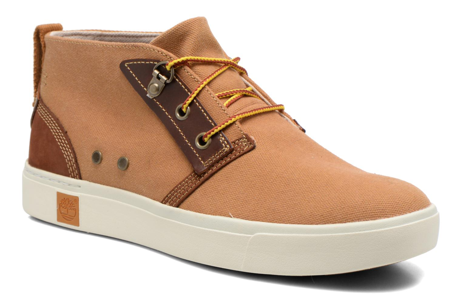 Amherst Chukka Bone Brown Washed Canvas