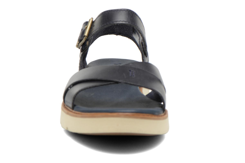 Sandales et nu-pieds Timberland Bailey Park Cross Vamp Bleu vue portées chaussures