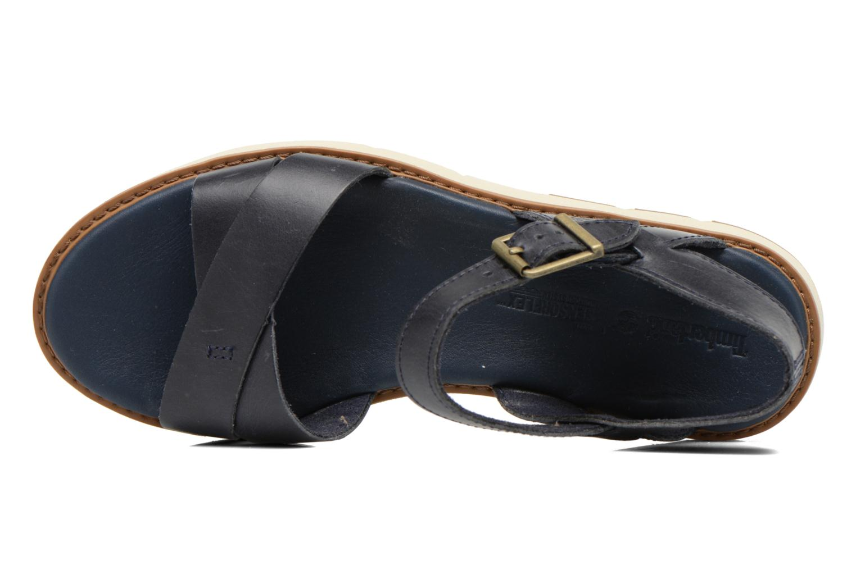 Sandales et nu-pieds Timberland Bailey Park Cross Vamp Bleu vue gauche