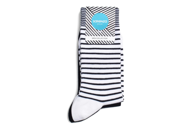 Calcetines Motifs Pack de 2 Blanc / marine
