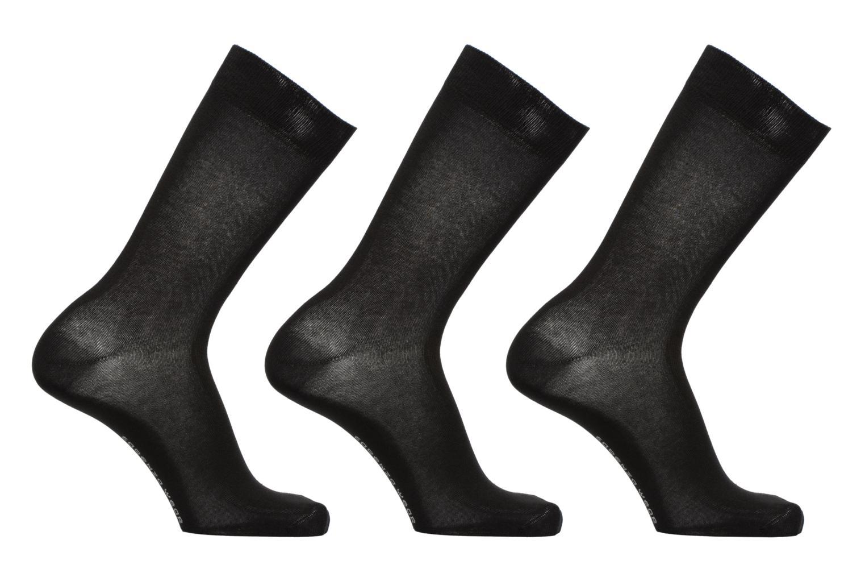 Chaussettes Homme Pack de 3 Unies coton Noir