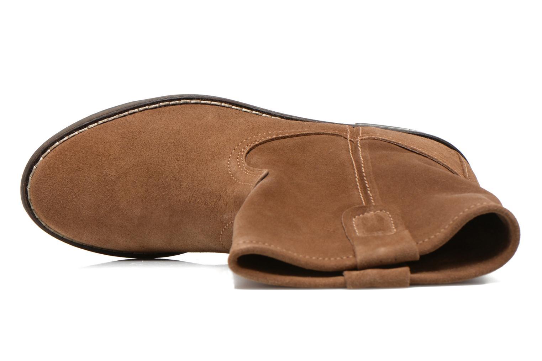 Bottines et boots Buffalo Lisa Marron vue gauche
