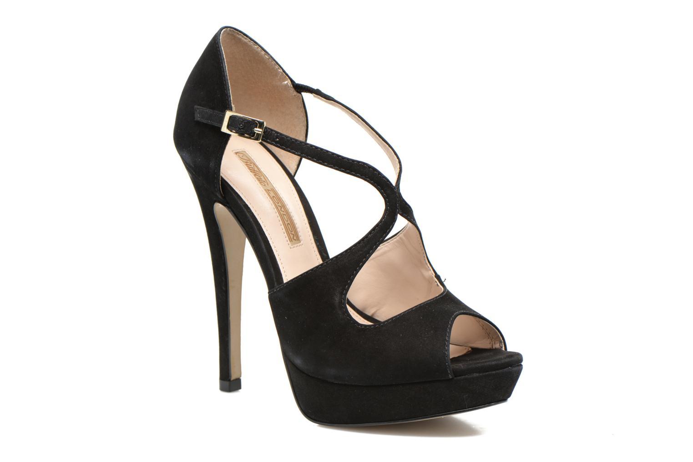 Sandaler Buffalo Alicia Sort detaljeret billede af skoene