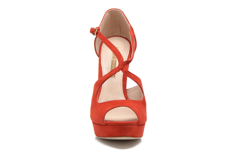 Sandalen Buffalo Alicia rot schuhe getragen