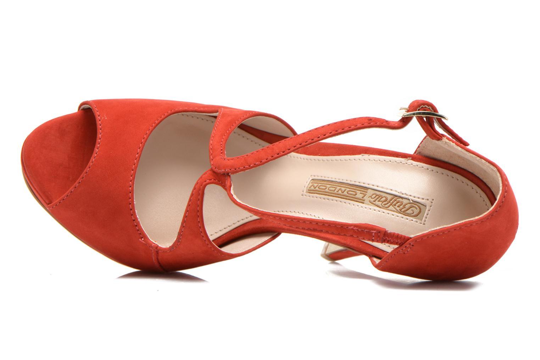 Sandaler Buffalo Alicia Röd bild från vänster sidan