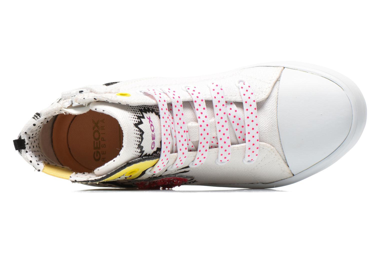 Sneaker Geox J Ciak G. A J6204A weiß ansicht von links