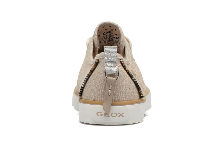 Sneaker Geox J Ciak G. E J6204E beige ansicht von rechts