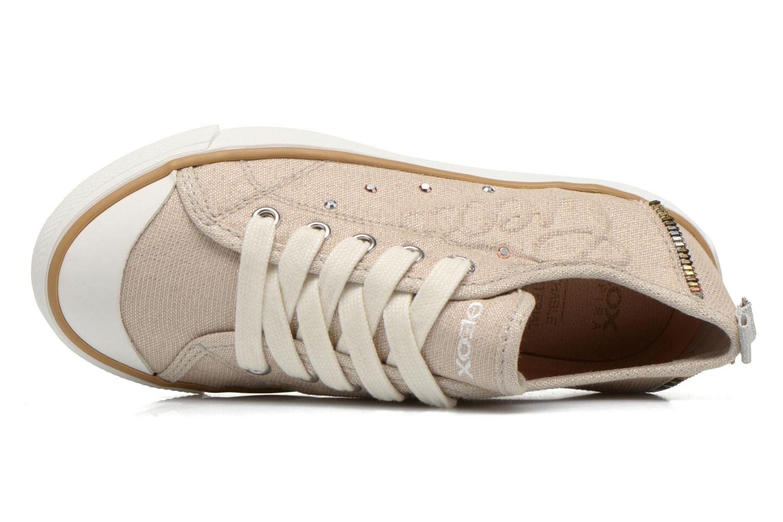 Sneaker Geox J Ciak G. E J6204E beige ansicht von links