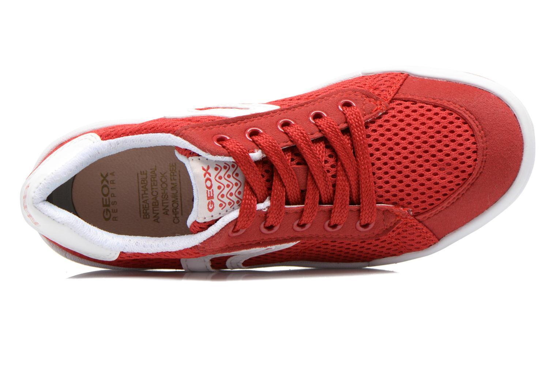 Sneakers Geox J Rolk B. E J620SE Rosso immagine sinistra