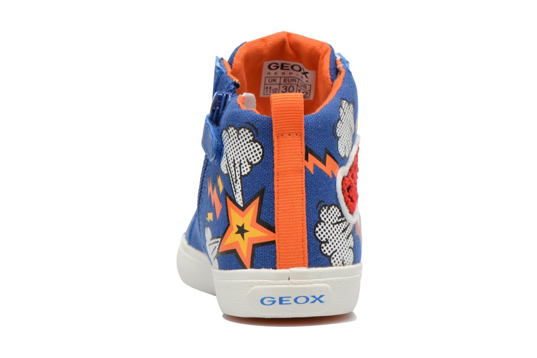Sneakers Geox J Kiwi B. C J62A7C Azzurro immagine destra