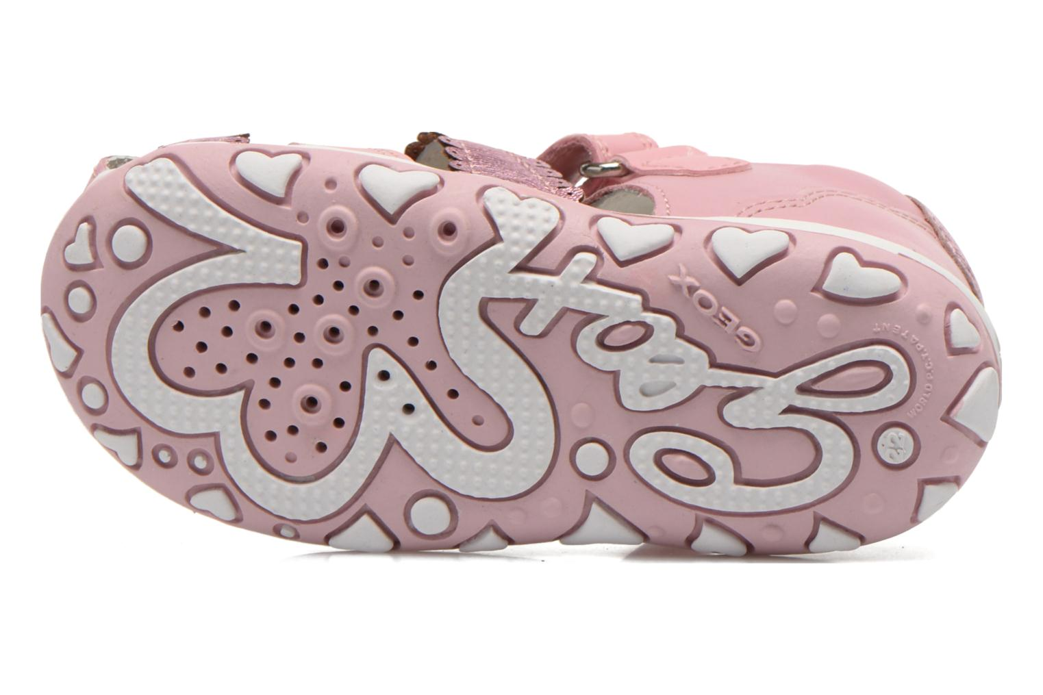 Sandals Geox B Bubble C B62E6C Pink view from above