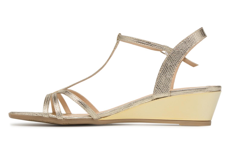 Sandales et nu-pieds Jonak Rozie Or et bronze vue face