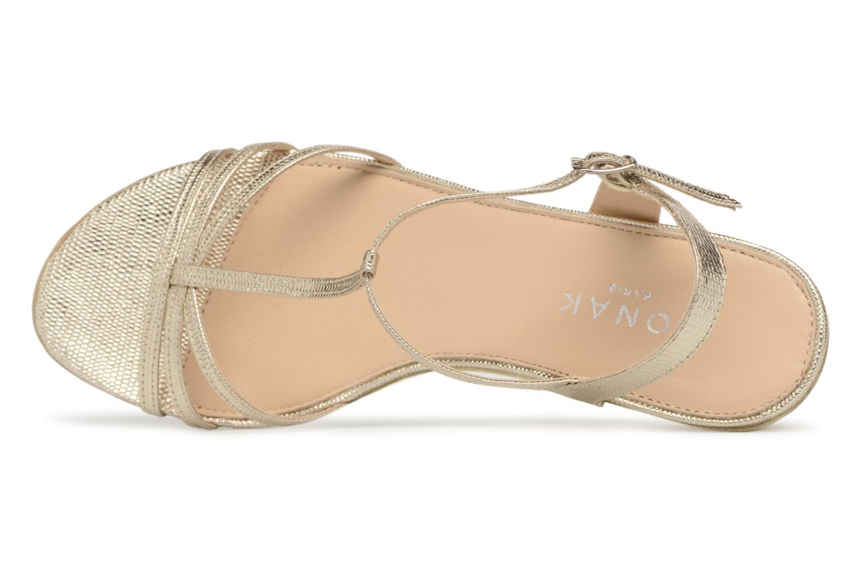 Sandales et nu-pieds Jonak Rozie Or et bronze vue gauche