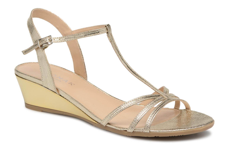 Sandales et nu-pieds Jonak Rozie Or et bronze vue détail/paire