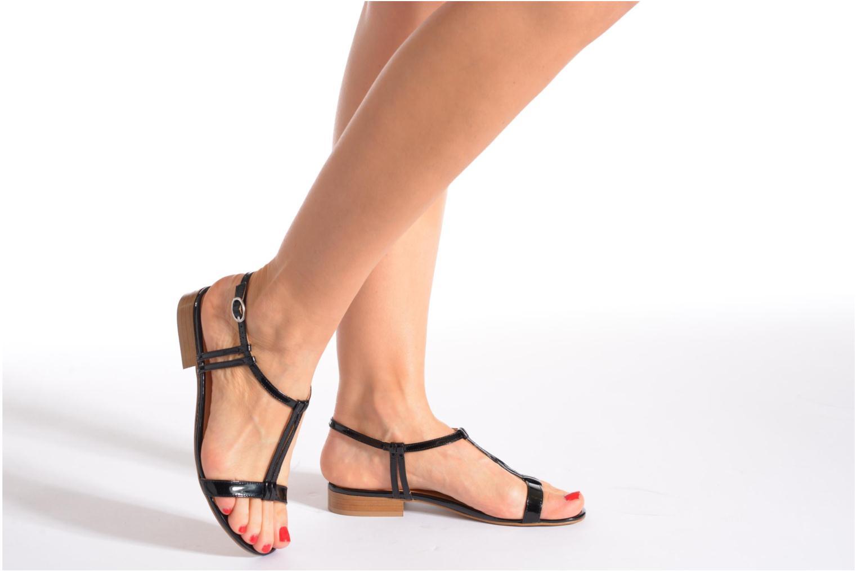 Sandales et nu-pieds Georgia Rose Etata Or et bronze vue bas / vue portée sac
